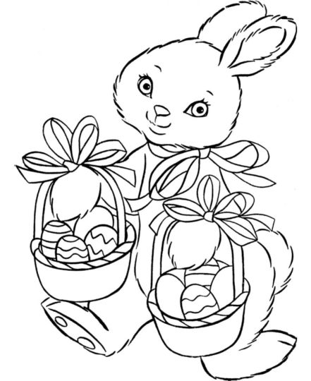 Easter Bunny With Eggs Coloring Page 27