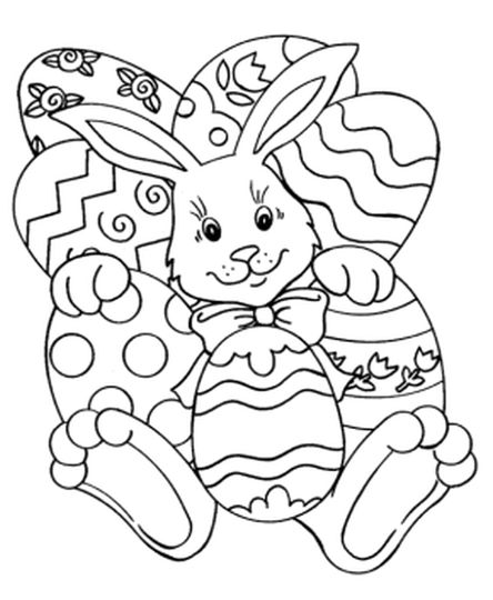 Easter Bunny With Eggs Coloring Page 28