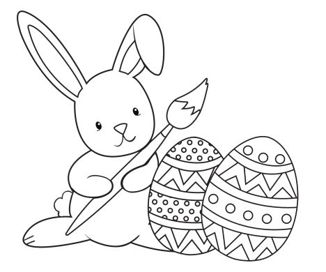 Easter Bunny With Eggs Coloring Page 30