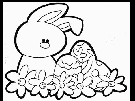 Easter Bunny With Eggs Coloring Page 31