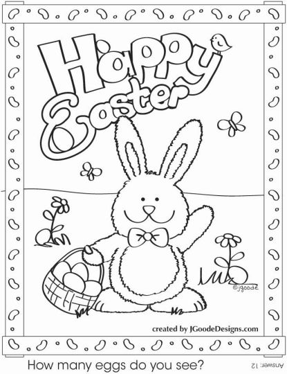 Easter Bunny With Eggs Coloring Page 38