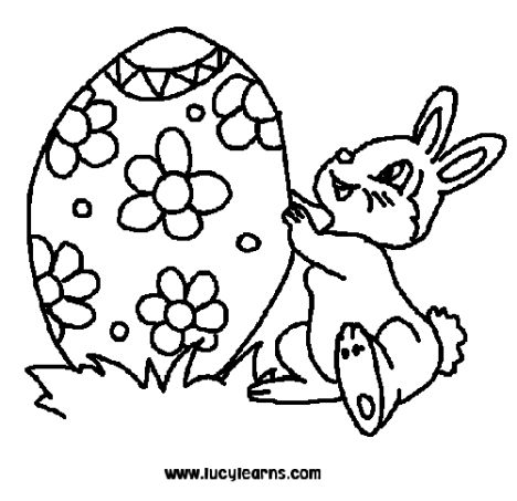 Easter Bunny With Eggs Coloring Page 39