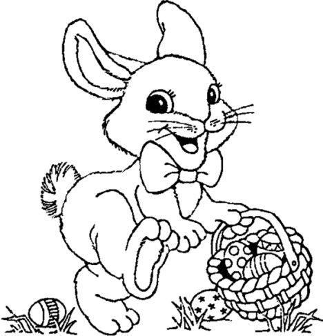 Easter Bunny With Eggs Coloring Page 40