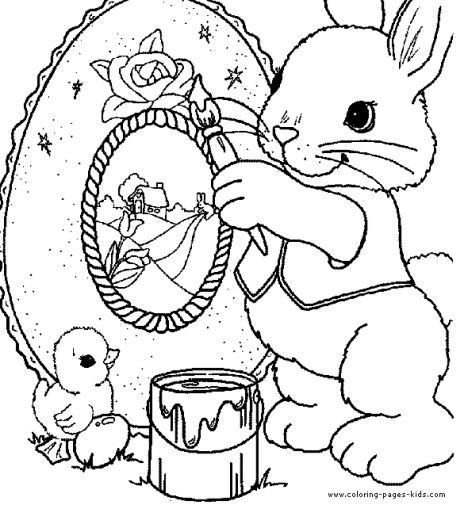 Easter Bunny With Eggs Coloring Page 43