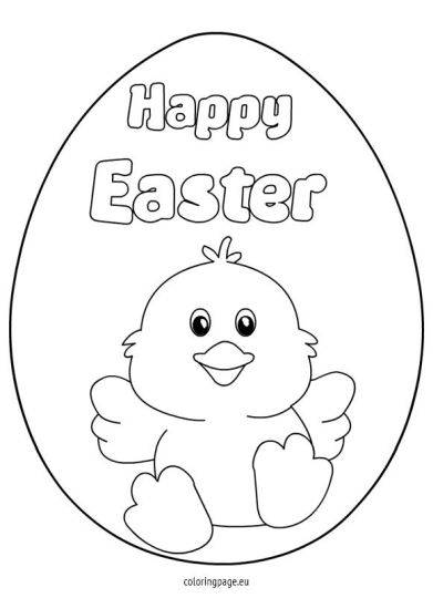 Easter Chick Coloring Pages 1