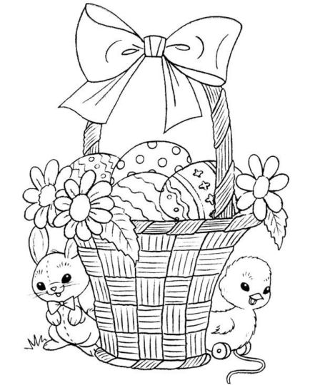 Easter Chick Coloring Pages 10
