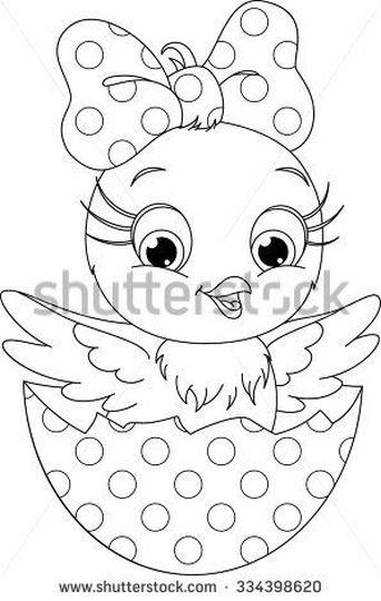 Easter Chick Coloring Pages Part 2