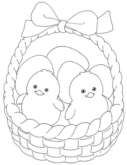 Easter Chick Coloring Pages 15
