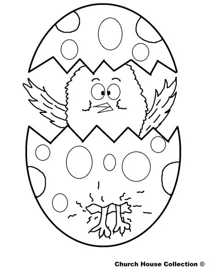 Easter Chick Coloring Pages 16