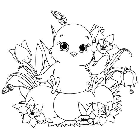 Easter Chick Coloring Pages 17