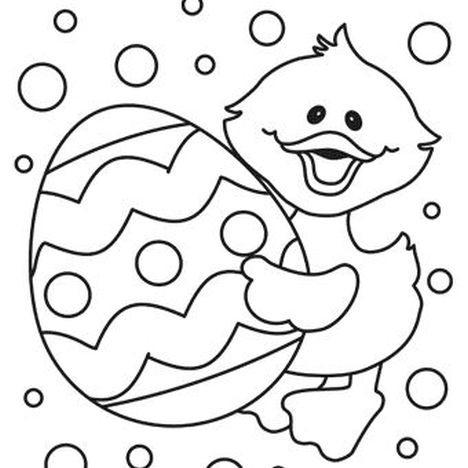 Easter Chick Coloring Pages 19