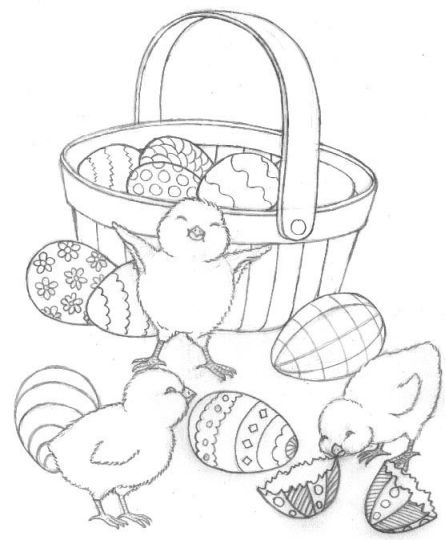 Easter Chick Coloring Pages 2