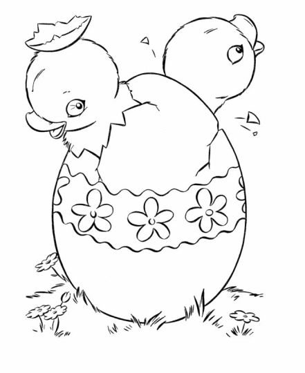 Easter Chick Coloring Pages 20