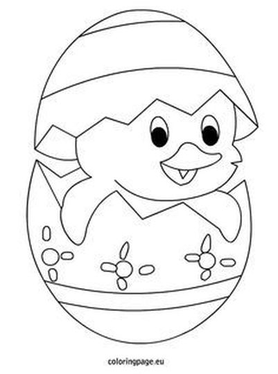 Easter Chick Coloring Pages 24
