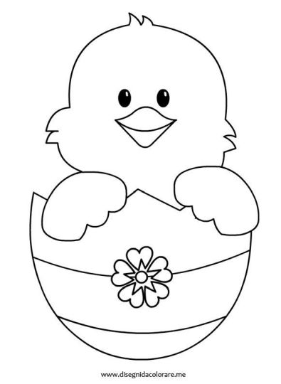 Easter Chick Coloring Pages 25