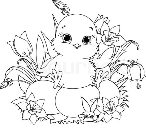 Easter Chick Coloring Pages 26