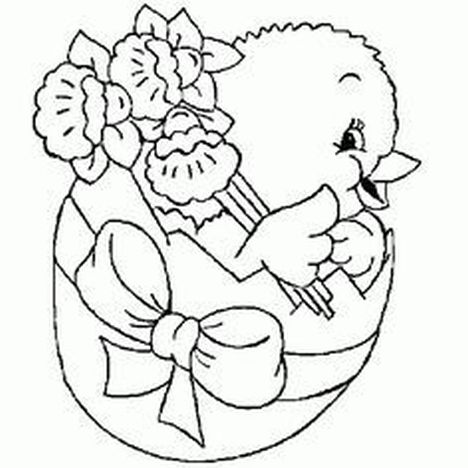 Easter Chick Coloring Pages 29
