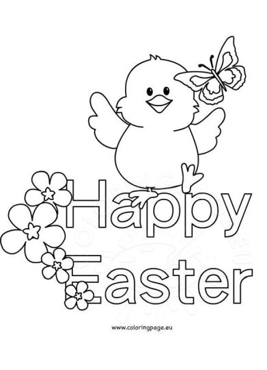 Easter Chick Coloring Pages 3