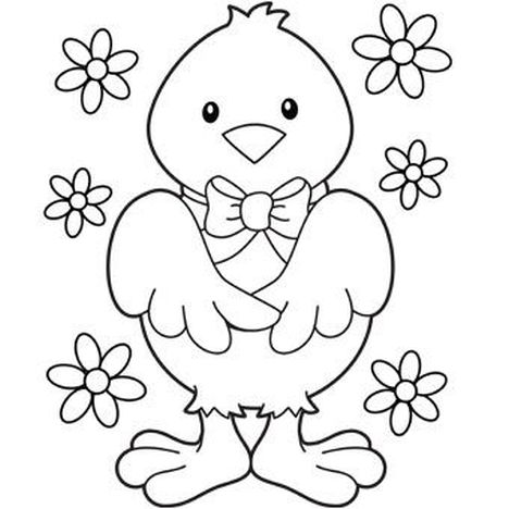 Easter Chick Coloring Pages 30