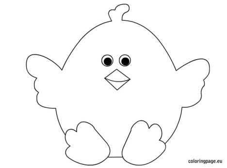 Easter Chick Coloring Pages 32