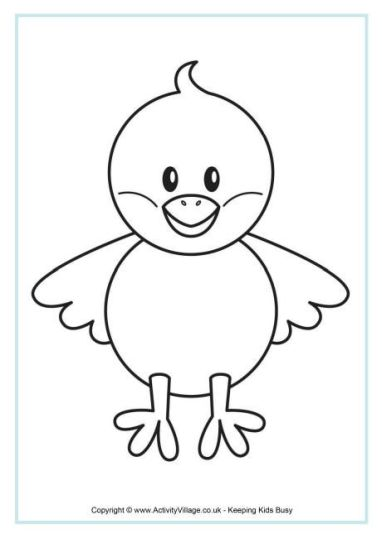 Easter Chick Coloring Pages 36