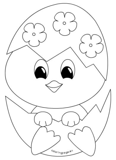 Easter Chick Coloring Pages 38