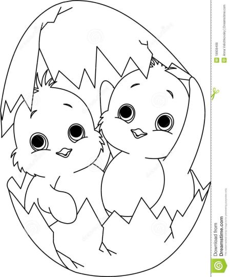 Easter Chick Coloring Pages 39