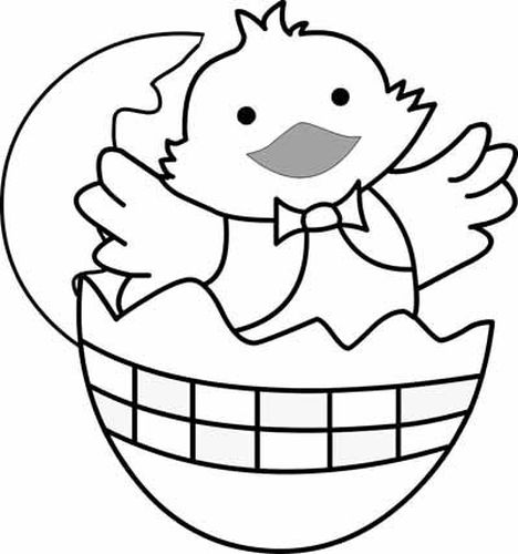 Easter Chick Coloring Pages 40