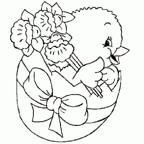 Easter Chick Coloring Pages 42