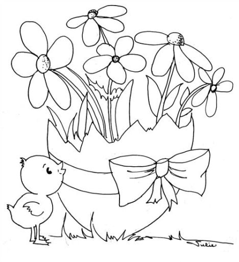 Easter Chick Coloring Pages 44
