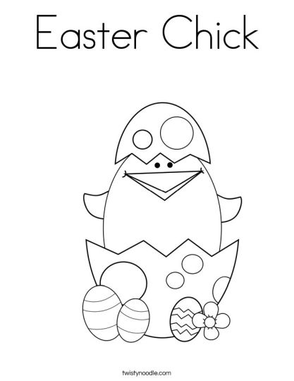 Easter Chick Coloring Pages 48