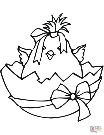 Easter Chick Coloring Pages 50