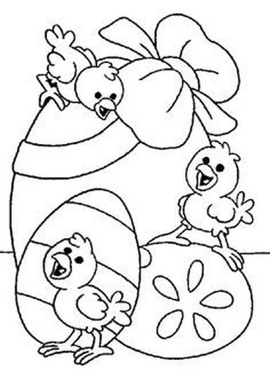 Easter Chick Coloring Pages 51