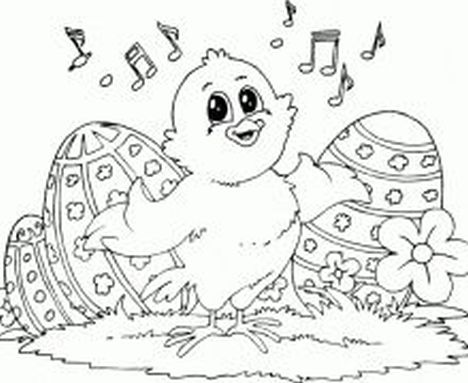 Easter Chick Coloring Pages 52