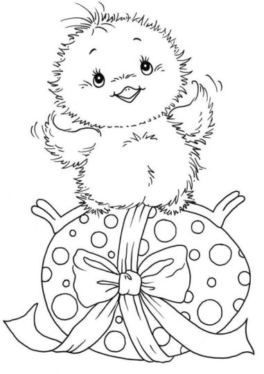 Easter Chick Coloring Pages 54
