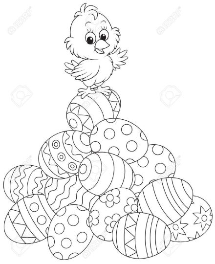 Easter Chick Coloring Pages 56