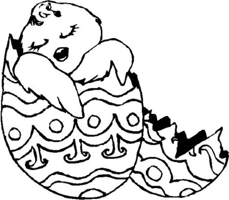 Easter Chick Coloring Pages 57