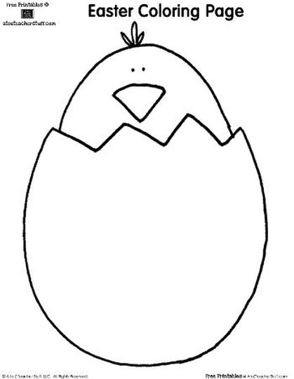 Easter Chick Coloring Pages 58