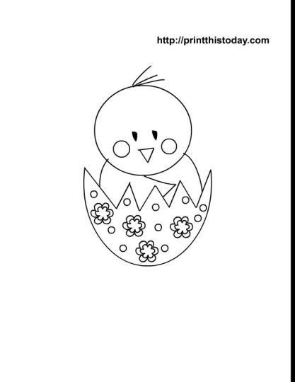 Easter Chick Coloring Pages 59