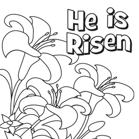 He Is Risen Coloring Page 1