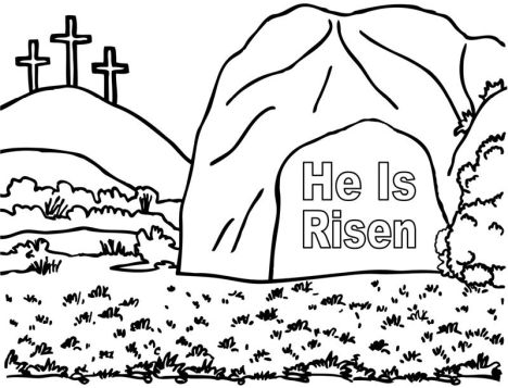 He Is Risen Coloring Page 10