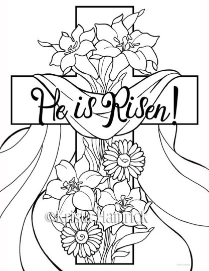 He Is Risen Coloring Page 11