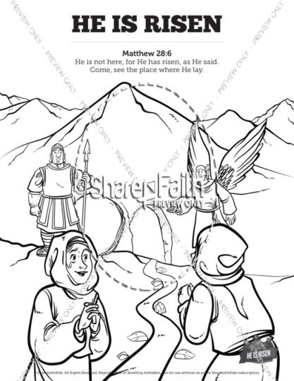 He Is Risen Coloring Page 12