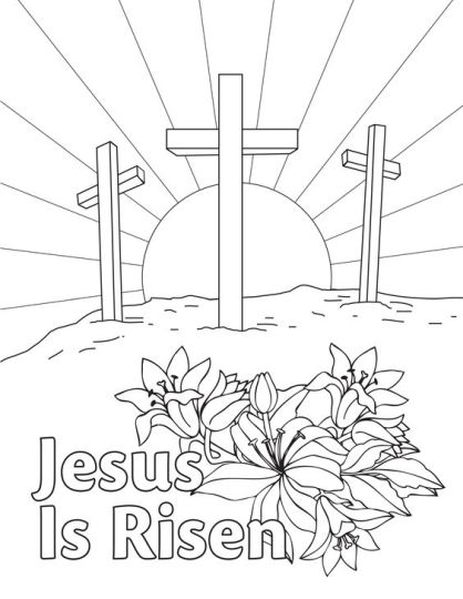 He Is Risen Coloring Page 13