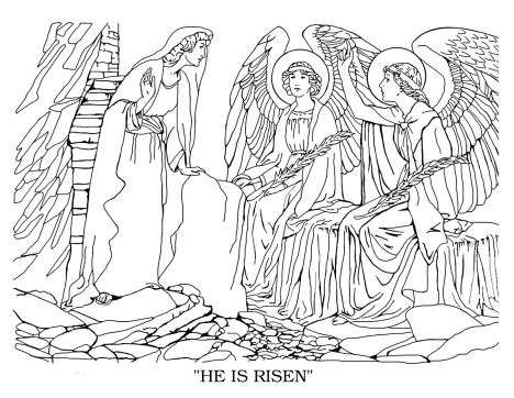 He Is Risen Coloring Page 16