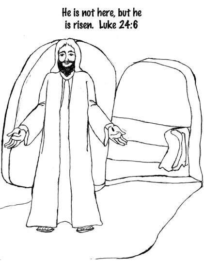 He Is Risen Coloring Page 18