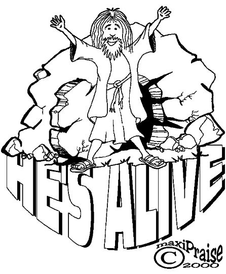 He Is Risen Coloring Page 19