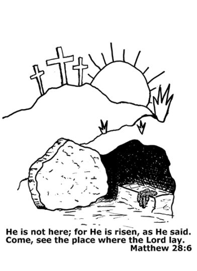 He Is Risen Coloring Page 26