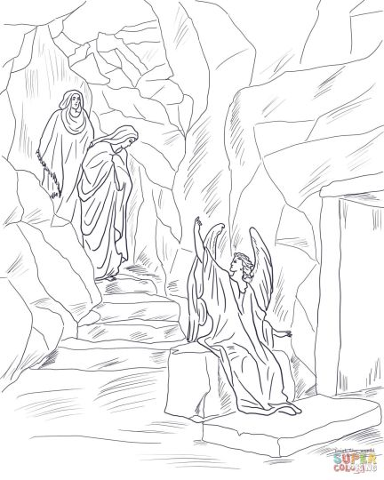 He Is Risen Coloring Page 27