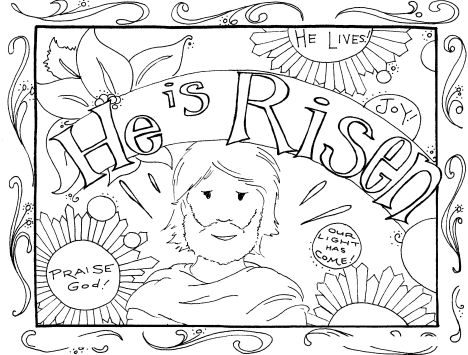 He Is Risen Coloring Page 3